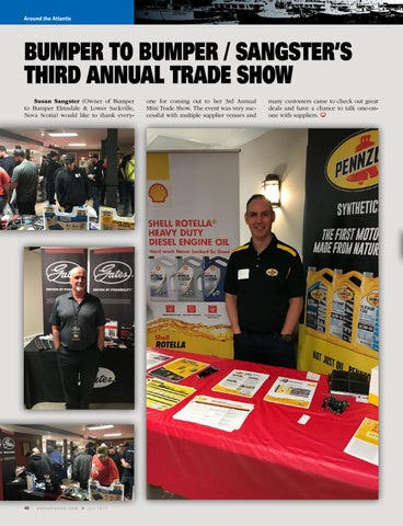 Page 40 of Bumper To Bumper / Sangsters trade show