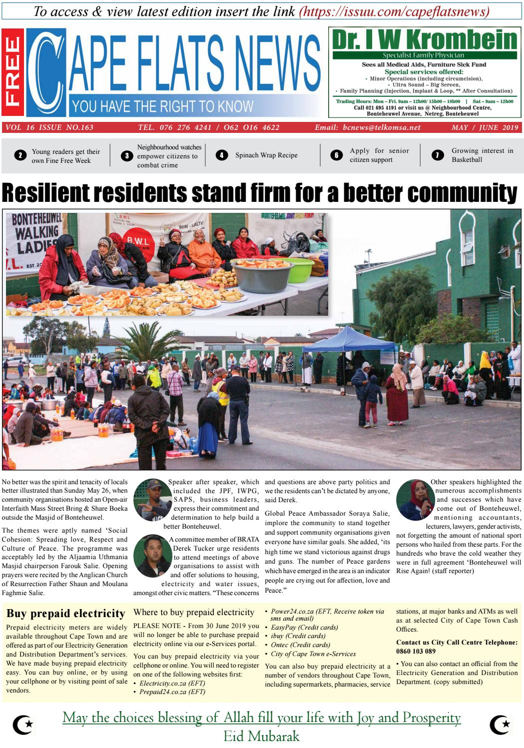 Cape Flats New May / June Edition 2019 by Cape Flats News