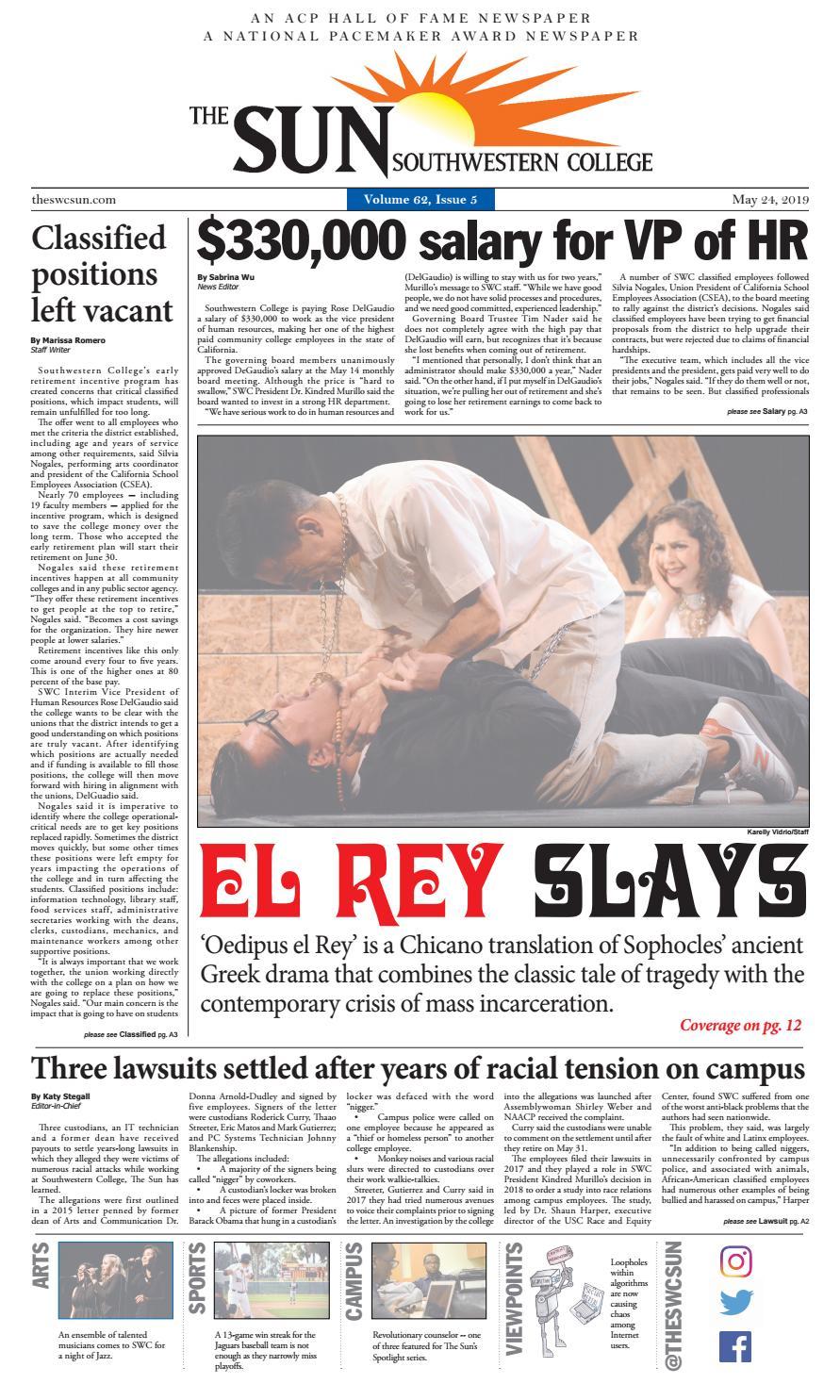 Vol 62 Issue 5 By Southwestern College Sun Newspaper Issuu