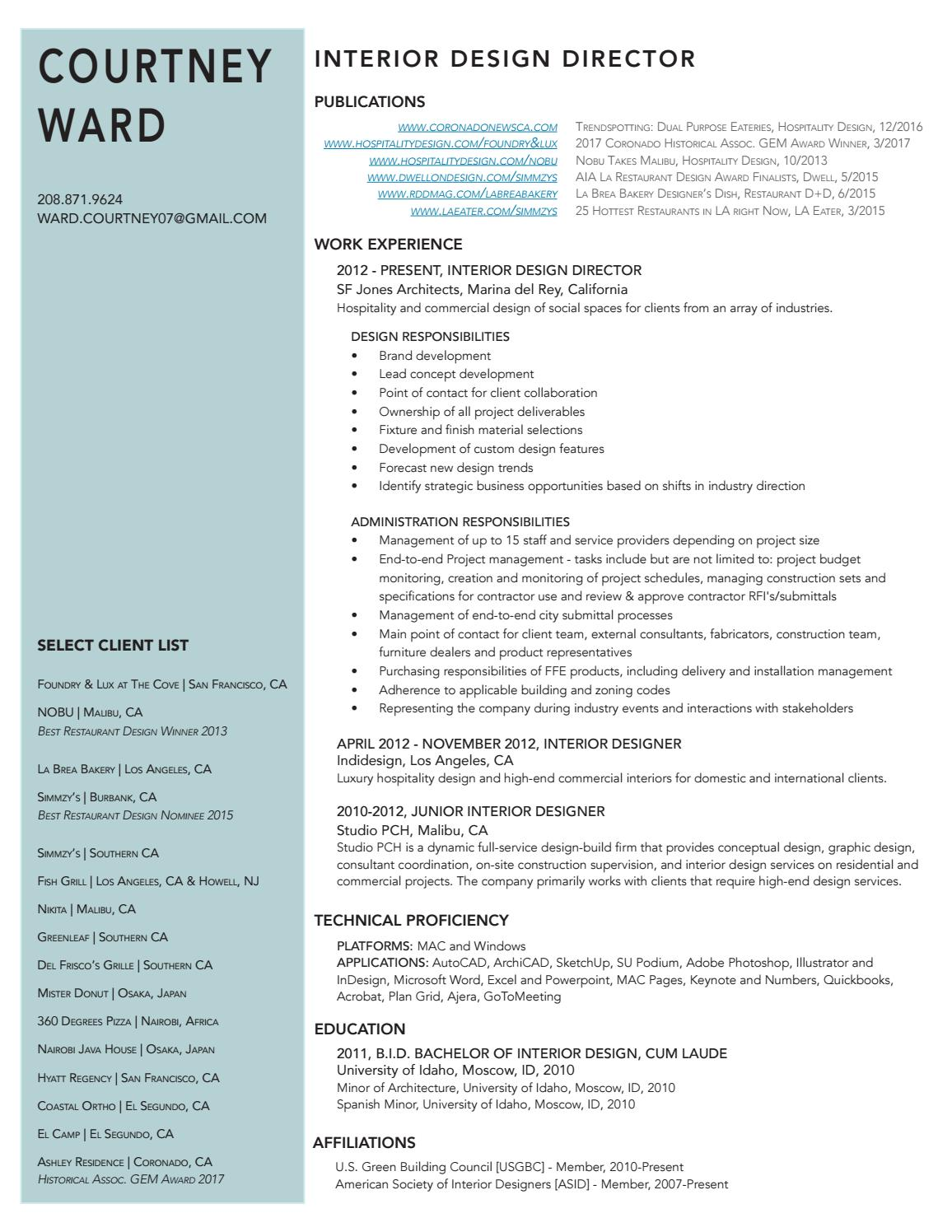Courtney Ward Resume