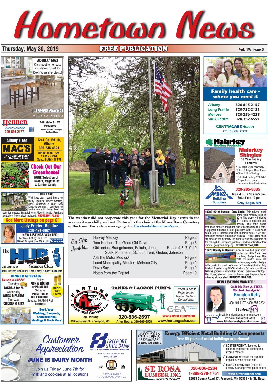 Hometown News May 30, 2019 by Hometown News - issuu