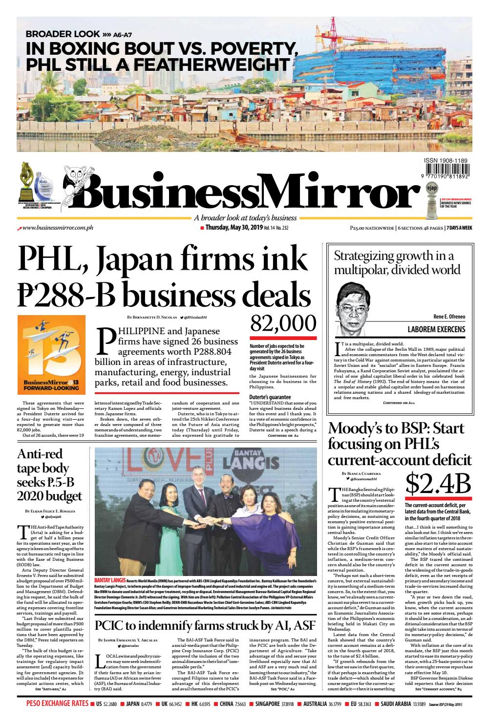 BusinessMirror May 30, 2019 by BusinessMirror - issuu