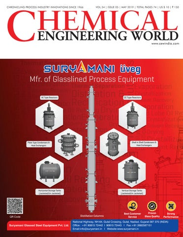 Chemical Engineering World May 2019 by Chemical Engineering World