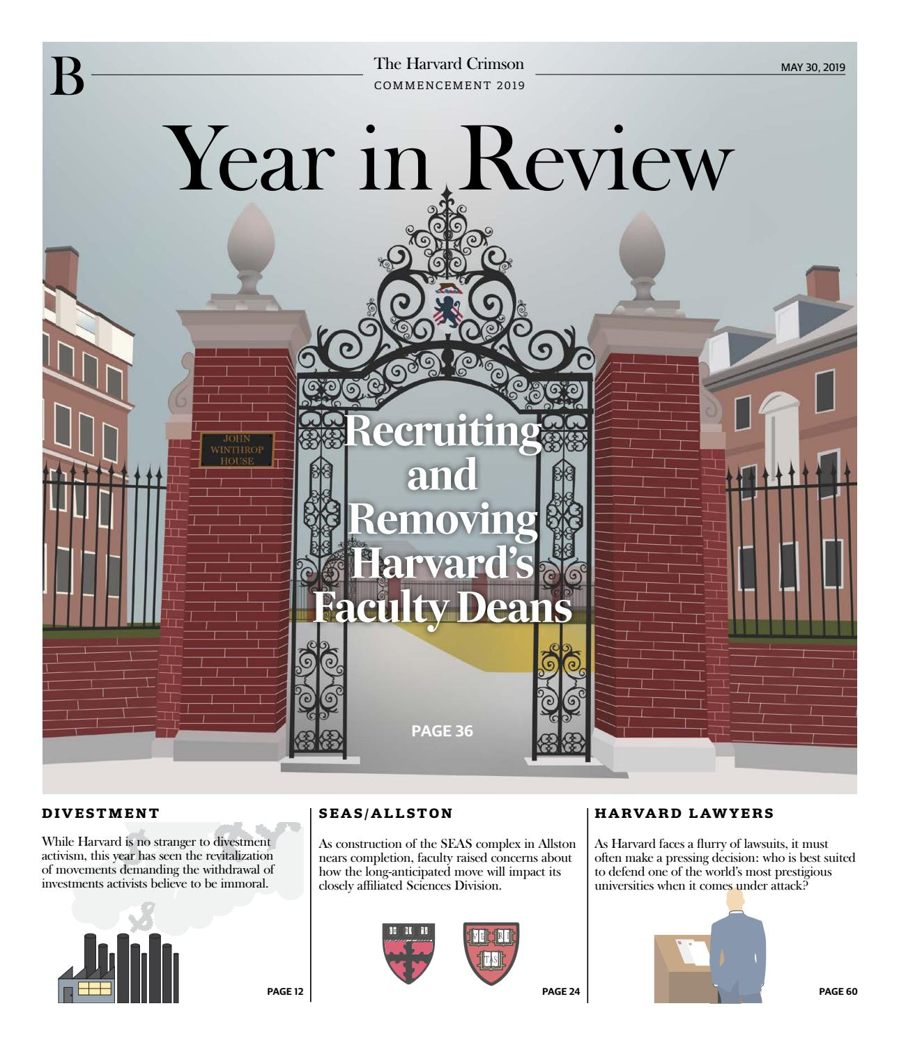 Year In Review 2019 by The Harvard Crimson - issuu