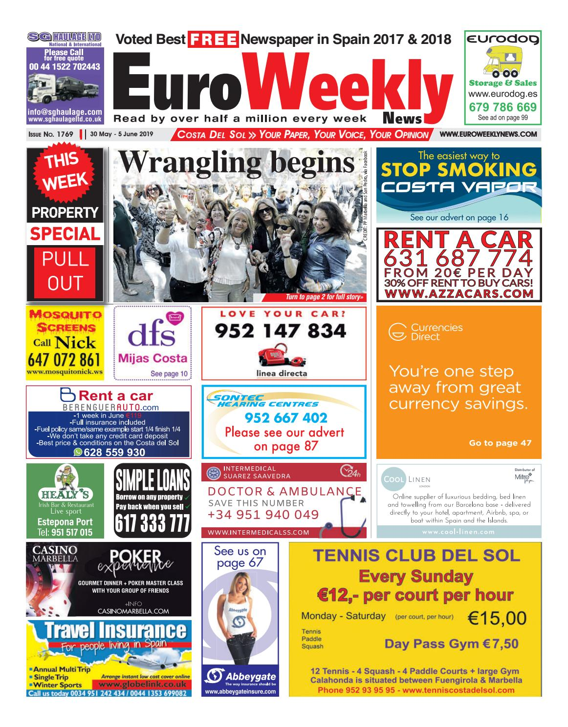061a756d8bb Euro Weekly News - Costa del Sol 30 May - 5 June 2019 Issue 1769 by Euro  Weekly News Media S.A. - issuu