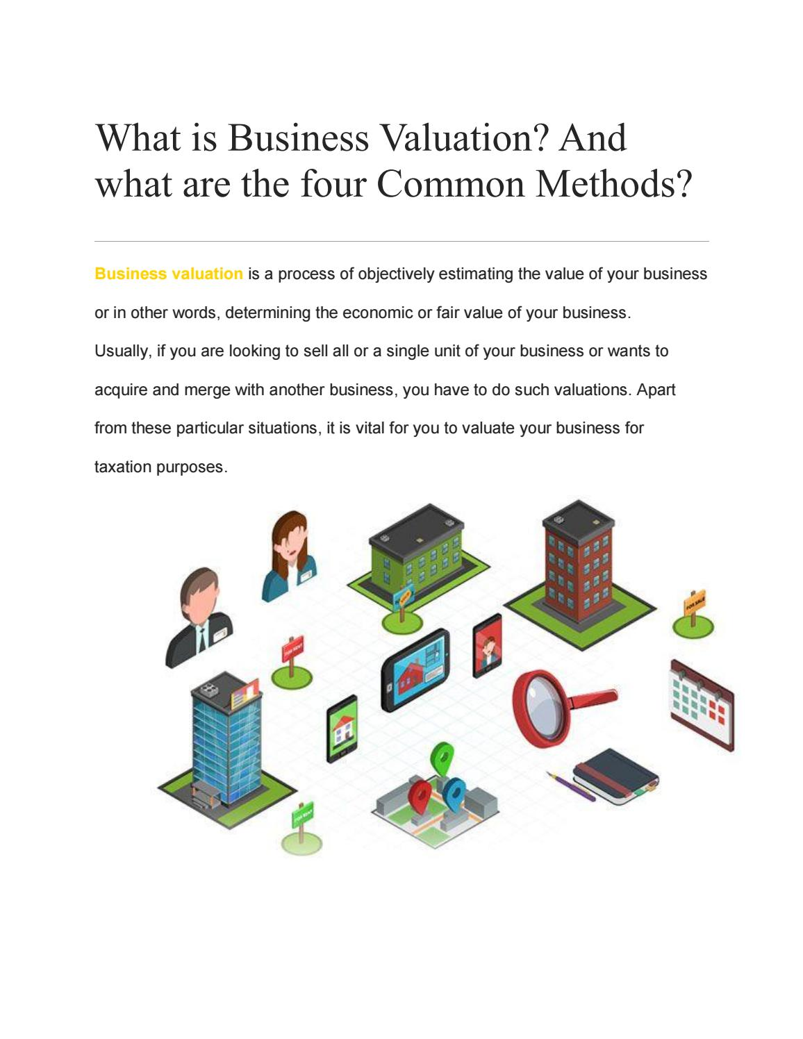 What Is Business Valuation And What Are The Four Common Methods By Resurgent India Issuu