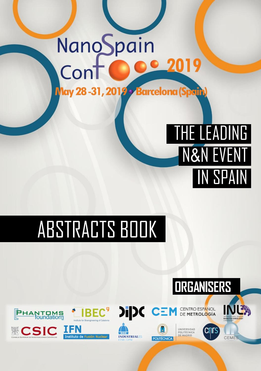 NanoSpain Conference 2019 Abstracts Book by Phantoms