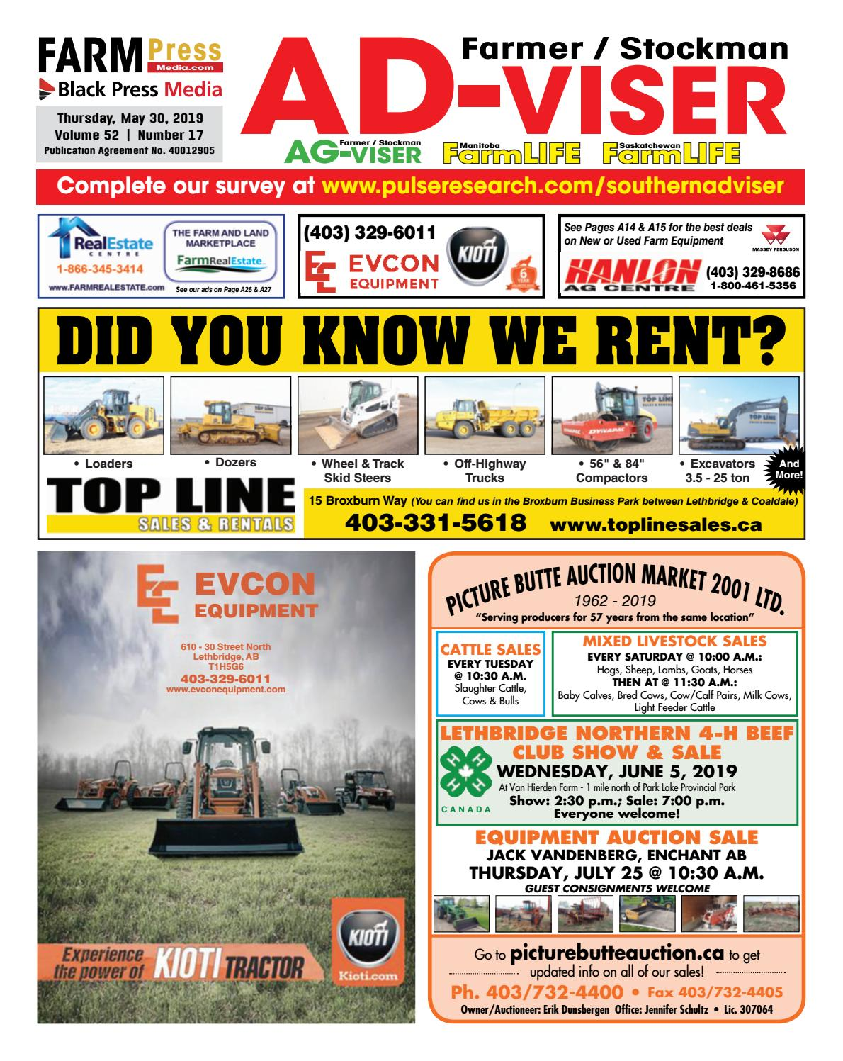Southern Alberta Advisor, May 30, 2019 by Black Press Media