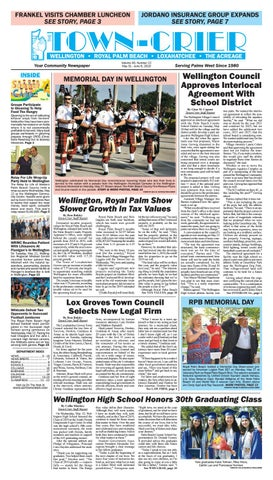 Town-Crier Newspaper May 31, 2019 by Wellington The Magazine