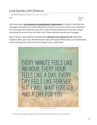 Love Quotes with Distance by answermeangel99 - issuu