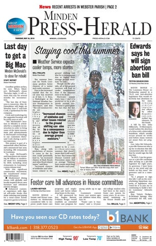 05-30-2019 Minden Press-Herald e-Edition by Minden Press