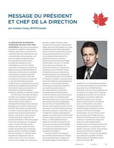 Page 11 of MESSAGE DU PRÉSIDENT ET CHEF DE LA DIRECTION