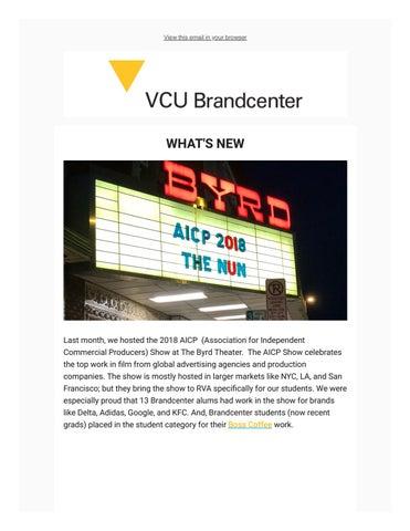 Alumni Newsletter December 2018 by VCU Brandcenter - issuu