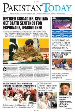 E-Paper PDF 31 May (ISB) by Pakistan Today - issuu