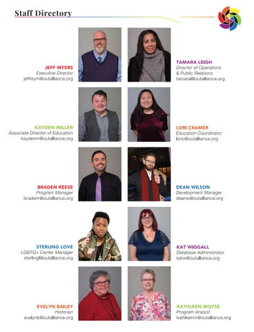 Page 8 of Out Alliance Staff