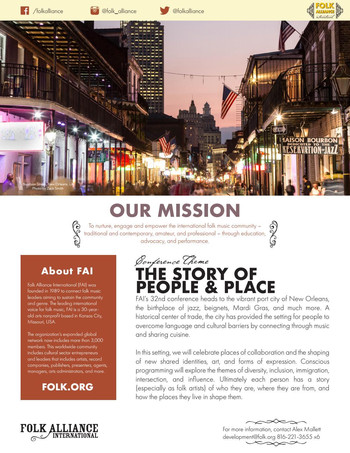 2020 Sales Sheet by Folk Alliance International - issuu