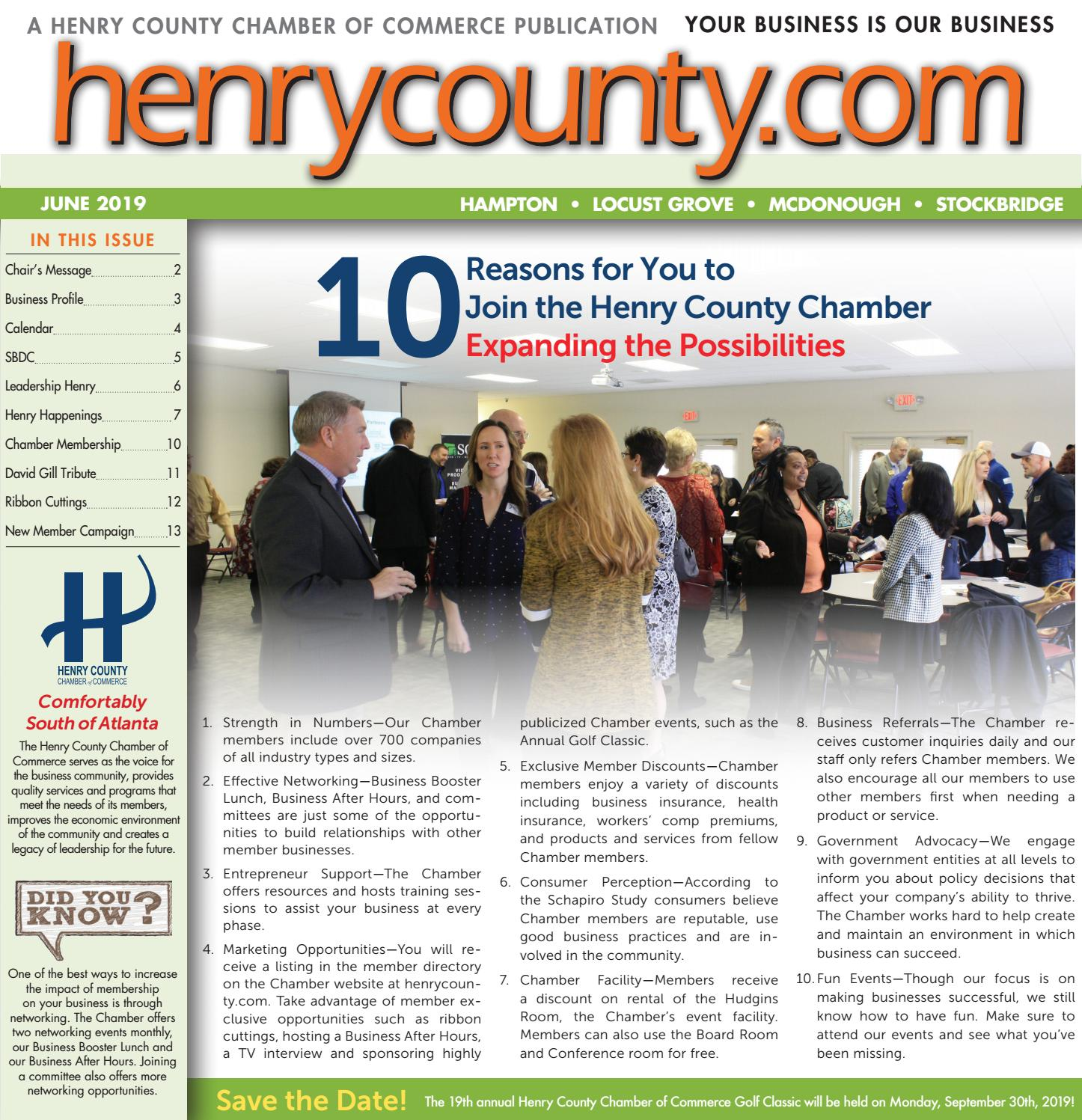 HCCC Newsletter June 2019 by Henry County Chamber of Commerce - issuu