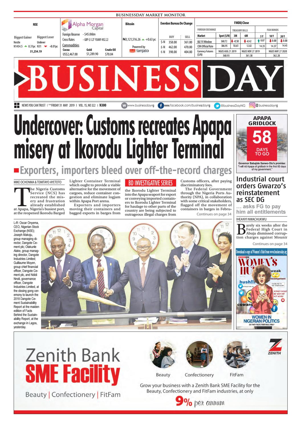 Businessday 31 May 2019 By Businessday Issuu
