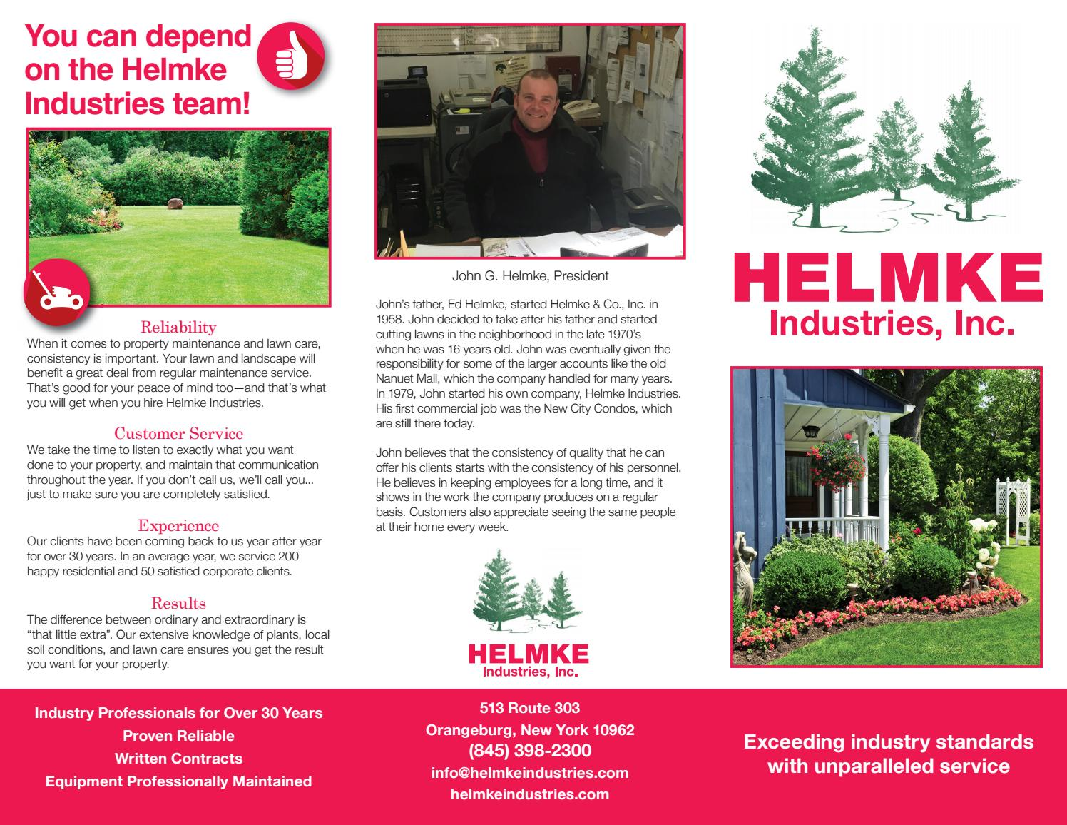 Rockland County Lawn Care Landscaping Services Helmke Industry By Peterparkar Issuu