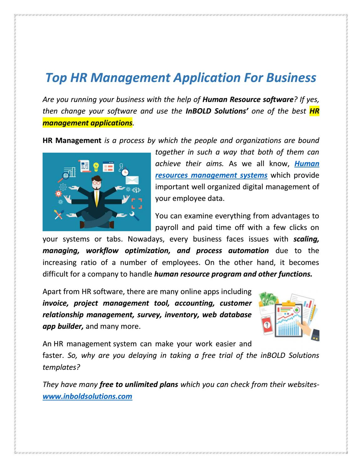 Top HR Management Application For Business by Inbold
