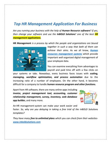 Top HR Management Application For Business