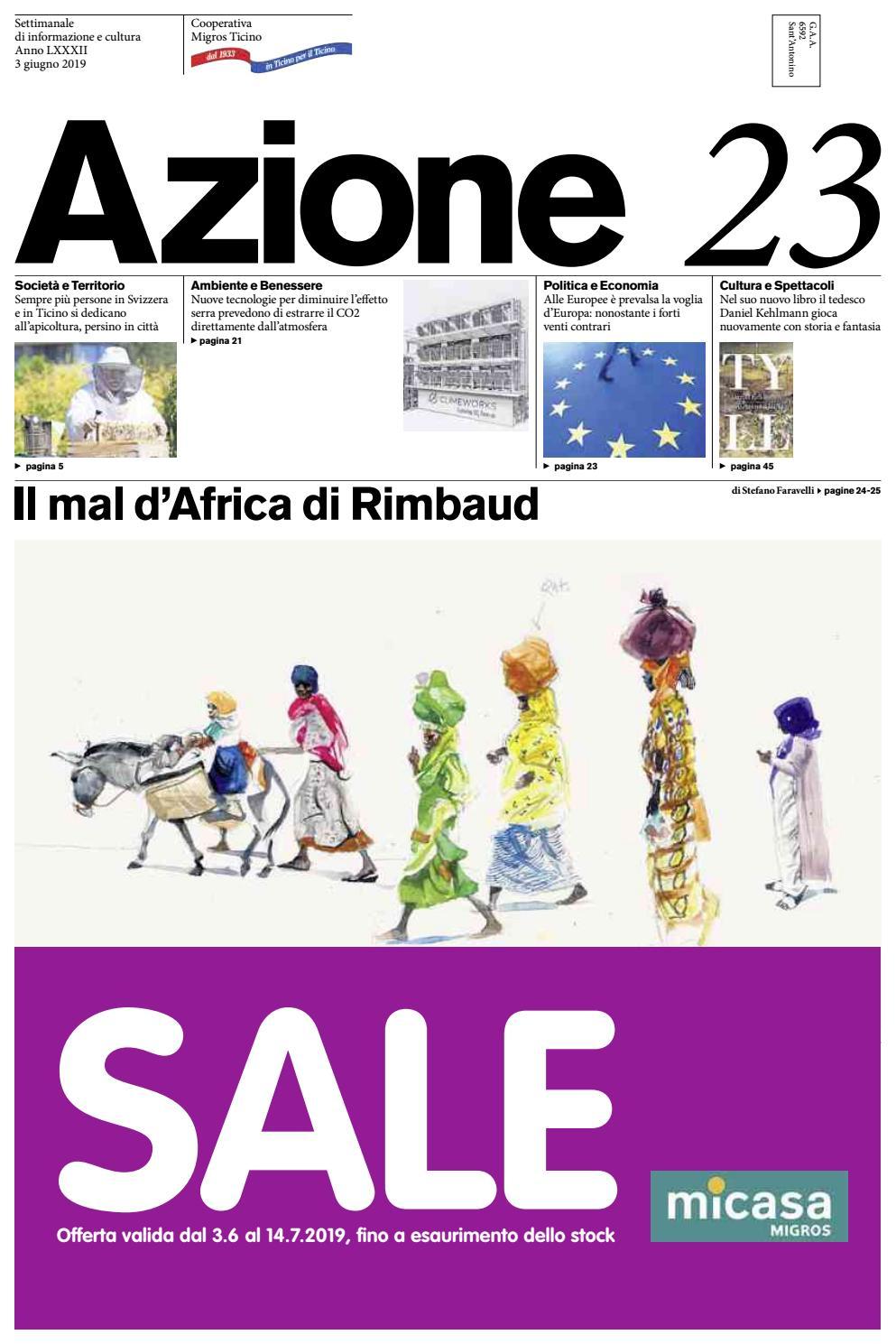 e2f5121fe8 Azione 23 del 3 giugno 2019 by Azione, Settimanale di Migros Ticino - issuu