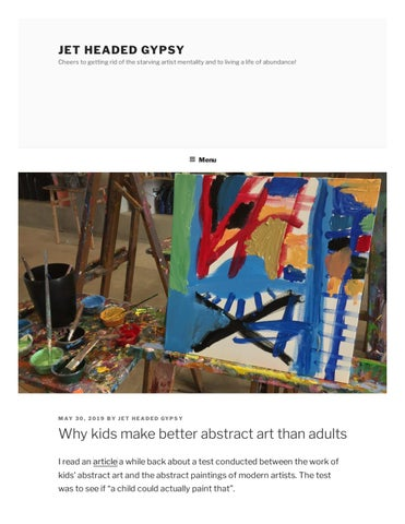 Abstract Art Article