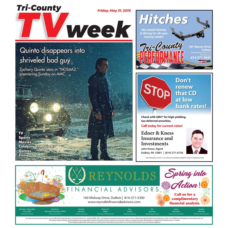 TV Week, Friday, May 31, 2019