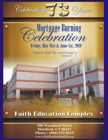 Faith SDA Church Mortgage Burning Commemorative Program by