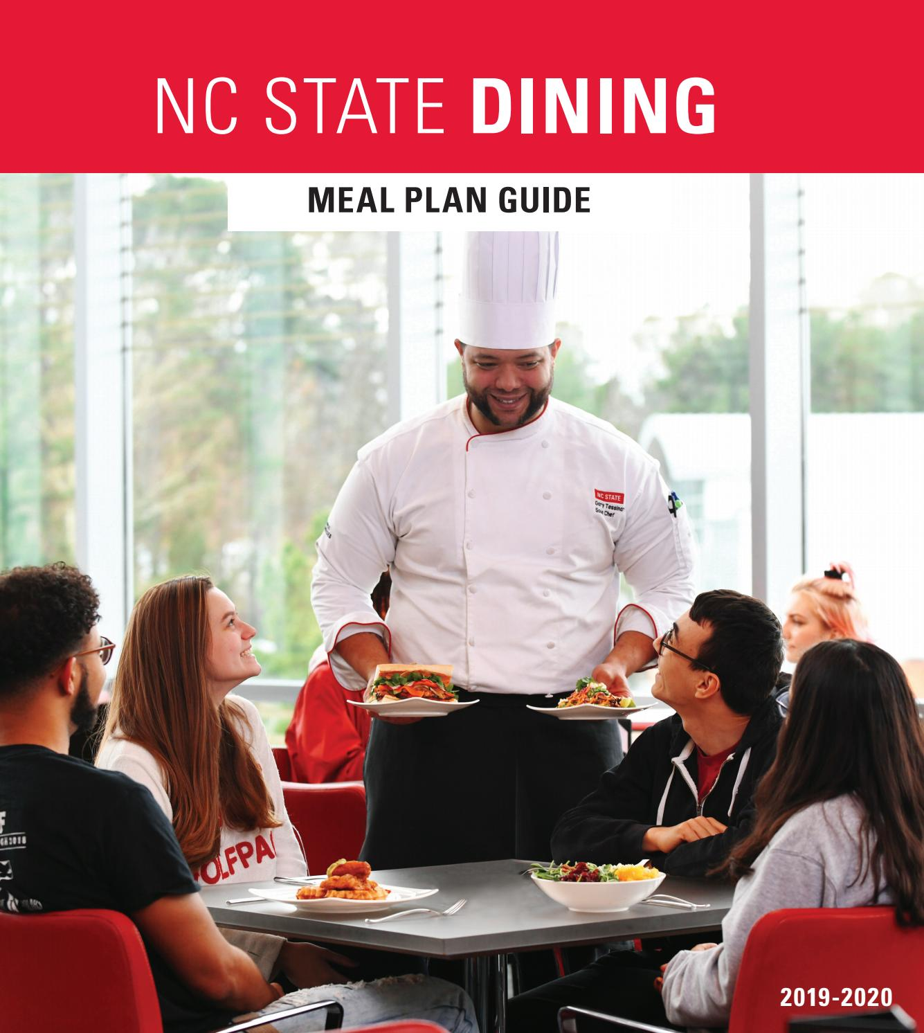 Nc State Graduation 2020.2019 2020 Dining Meal Plan Guide By Nc State Campus