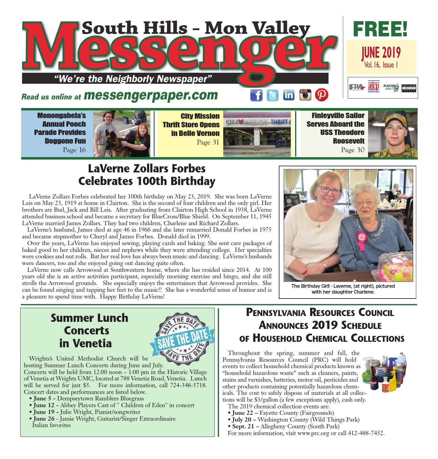 South Hills Mon Valley Messenger June 2019 by South Hills
