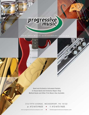 2019-2020 Progressive Music Accessories Catalog by
