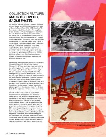 Page 10 of Akron Art Museum Will Re-Install Mark di Suvero's Eagle Wheel
