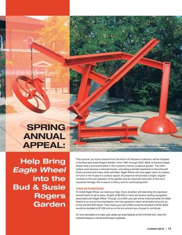 Page 11 of Akron Art Museum Will Re-Install Mark di Suvero's Eagle Wheel
