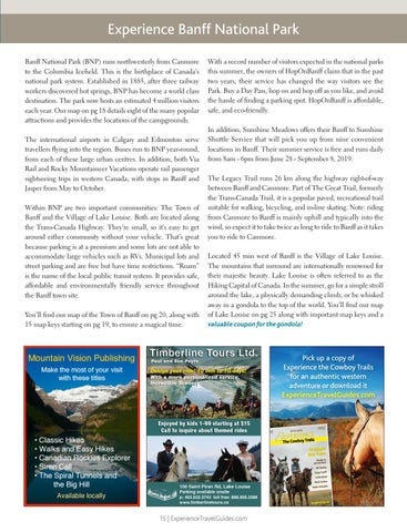 Page 15 of Experience Banff National Park