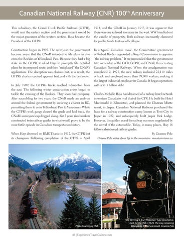 Page 41 of Canadian National Railway (CNR) 100th Anniversary