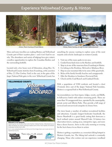 Page 42 of Experience Yellowhead County & Hinton