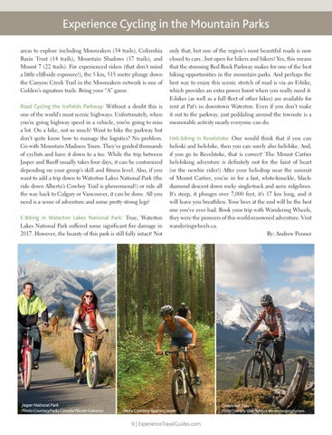 Page 9 of Experience Cycling in the Mountain Parks