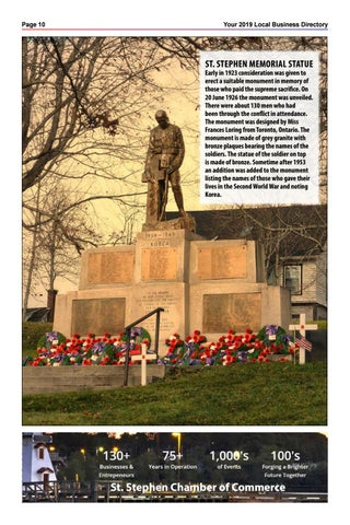 Page 10 of St Stephen Memorial Statue