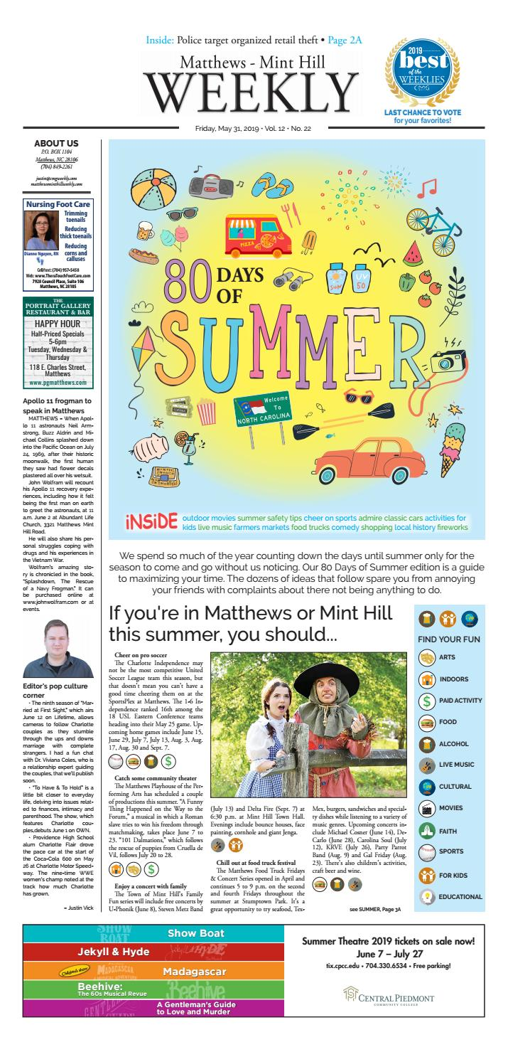 Matthews-Mint Hill Weekly May 31, 2019 by Carolina Weekly