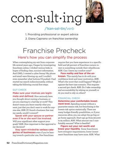 Page 52 of Franchise Precheck