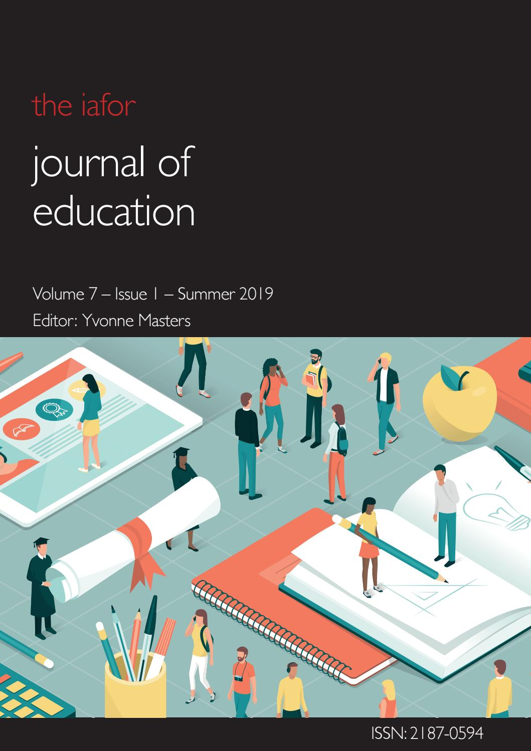 IAFOR Journal of Education Volume 7 – Issue 1 – Summer 2019