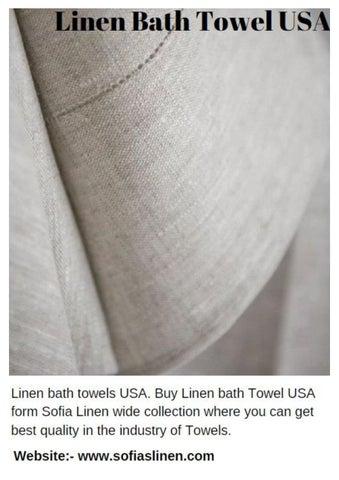 Linen Bath Towel Usa By Sofias Linen Issuu