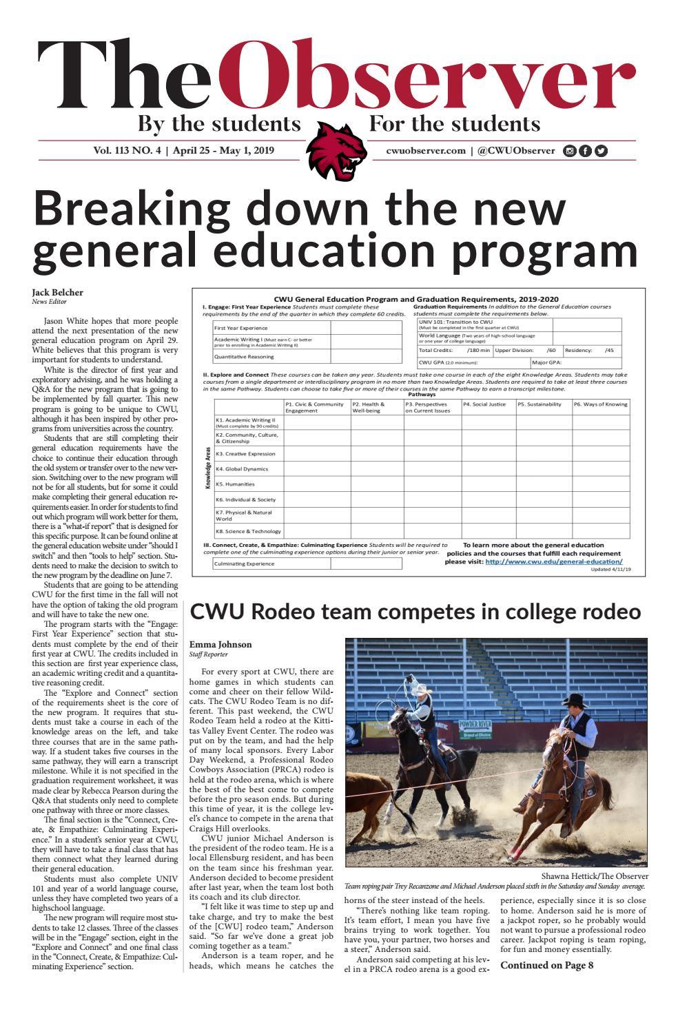 CWU Observer, Spring 2019 - Issue 4 by CWU Observer - issuu