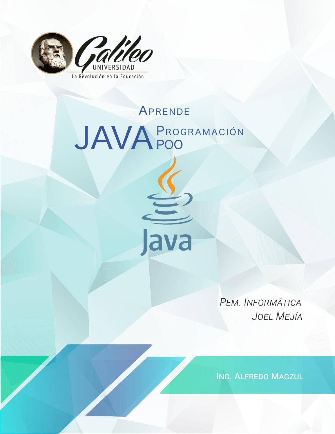 Programación En Java By Yoelvmejia2019 Issuu
