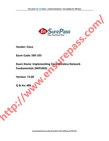 EnsurePass Cisco 200-355 Exam Real Questions and Answers 488Q