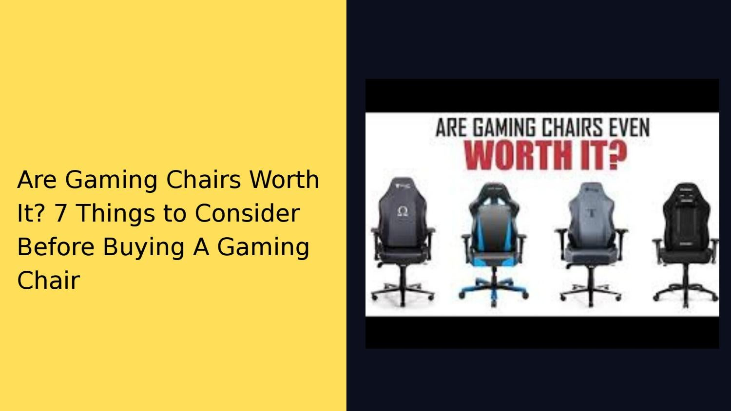 Prime Are Gaming Chairs Worth It 7 Things To Consider Before Creativecarmelina Interior Chair Design Creativecarmelinacom