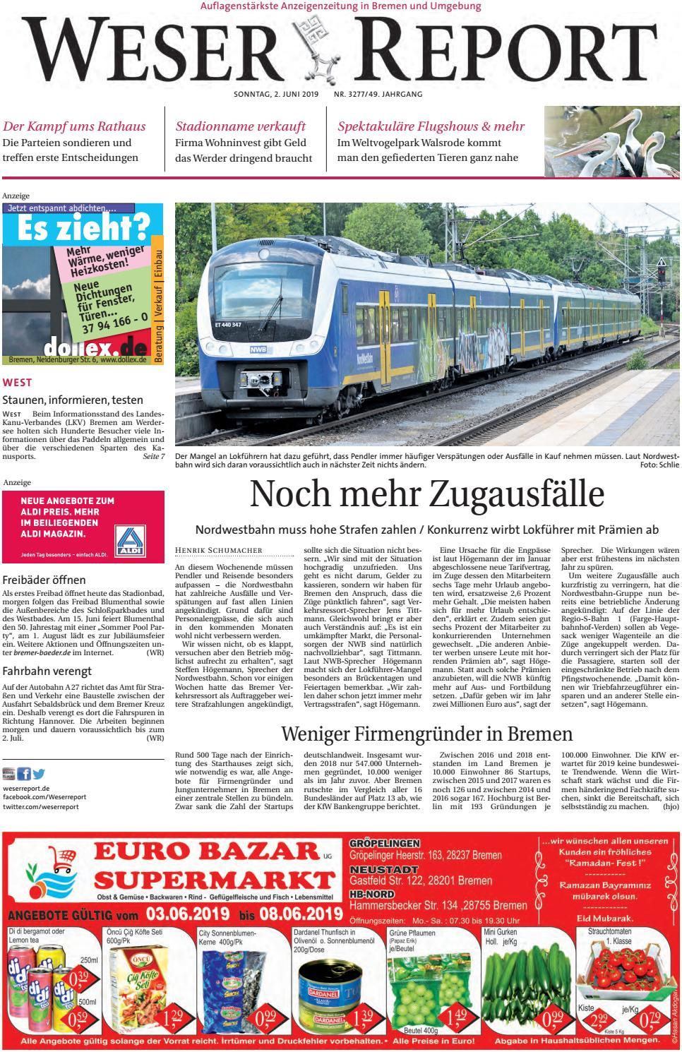 Weser Report - West vom 02.06.2019 by KPS Verlagsgesellschaft mbH ...