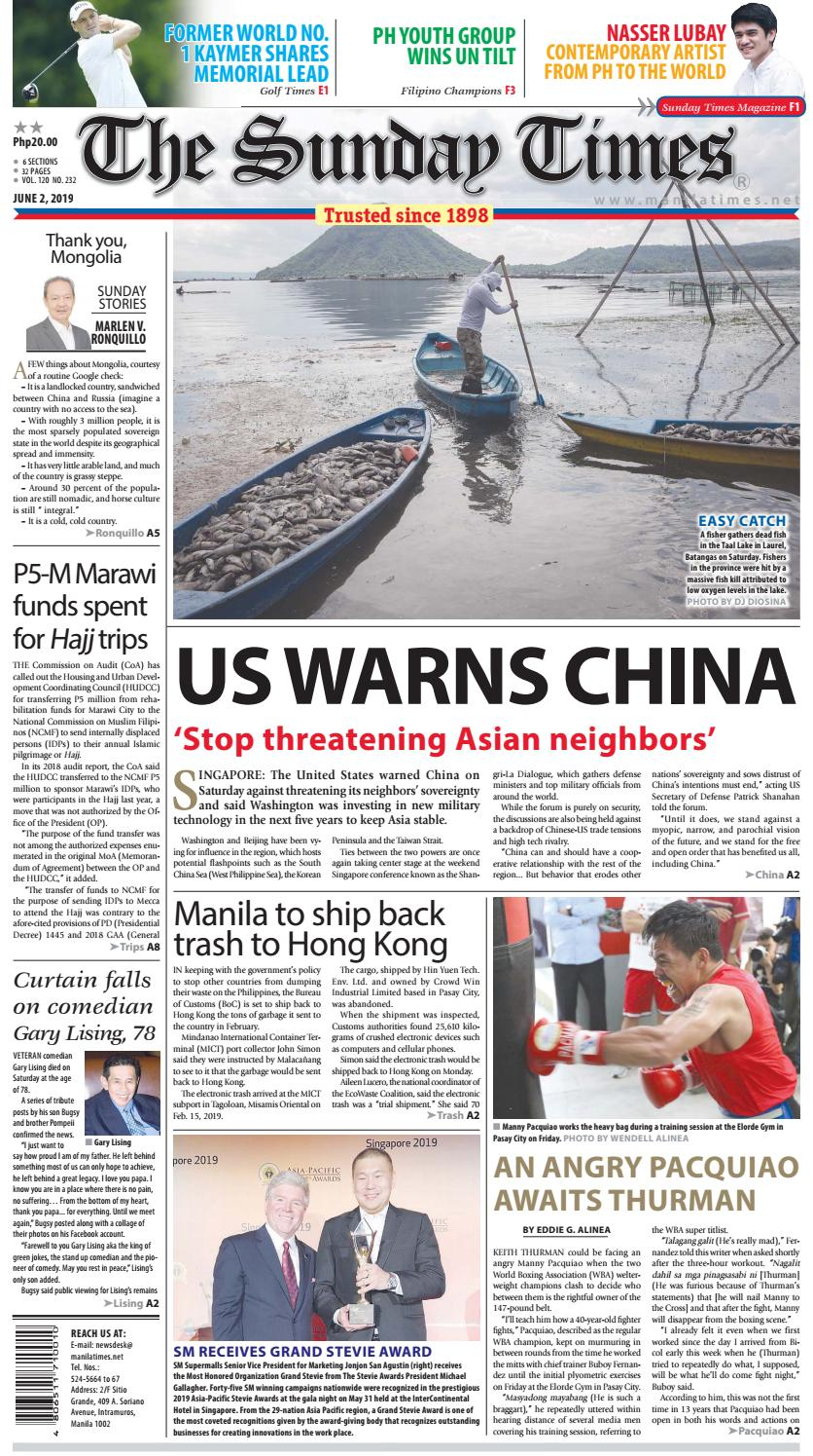 The Manila Times | June 02, 2019 by The Manila Times - issuu