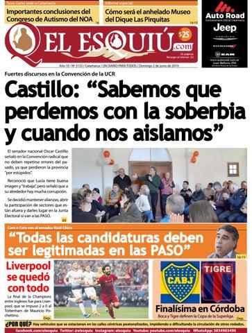 El Esquiu com, domingo 2 de junio de 2019 by Editorial El